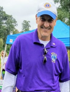 Bob Collins, President of Bedford Hills Lions Club